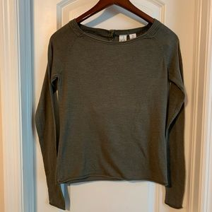 H&M Olive Green Crew Neck Sweater Top